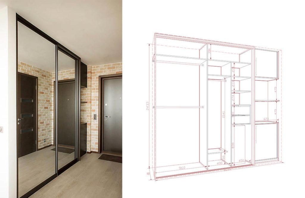 проект шкаф-купе 12