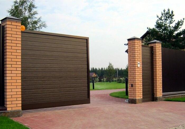 Ворота и калитки фото